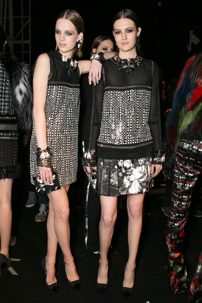 Roberto Cavalli at Milan Fall 2013 (Backstage)