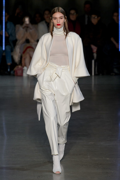 Sally LaPointe at New York Fall 2018 [fashion model,fashion,fashion show,runway,white,clothing,haute couture,shoulder,public event,event,sally lapointe,fashion,fashion week,runway,white,clothing,new york fashion week,event,fashion show,london fashion week,new york fashion week,london fashion week,maison margiela,fashion,fashion week,fashion show,ready-to-wear,the north face]