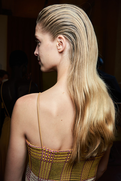 Salvatore Ferragamo at Milan Spring 2021 (Backstage) [hair,hairstyle,blond,shoulder,long hair,beauty,chin,fashion,hair coloring,model,hairdresser,salvatore ferragamo,hair,hair,beauty,hairstyle,fashion,hair coloring,brown hair,milan fashion week,beauty,hairstyle,hair,hair coloring,long hair,fashion,perm,hairdresser,brown hair]