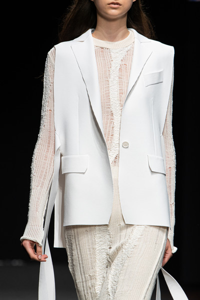 Simona Marziali at Milan Spring 2021 (Details) [clothing,white,fashion,suit,outerwear,blazer,fashion model,formal wear,jacket,fashion show,blazer,simona marziali,nina ricci,fashion,haute couture,clothing,fashion model,wear,milan fashion week,fashion show,fashion,fashion show,ready-to-wear,nina ricci,haute couture,paris,blazer]