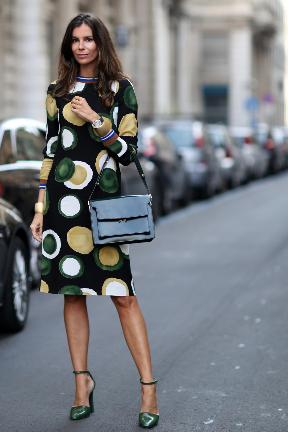 Circle Sheath Best Street Style At Milan Fashion Week Spring 2015 Livingly
