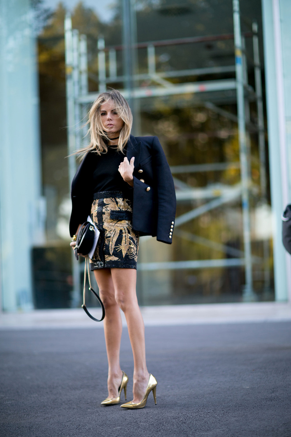 Gold Accents The Best Street Style At Paris Fashion Week
