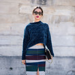 Chenille Sweater and Stripes