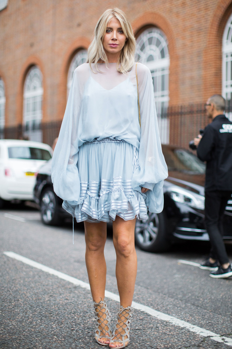 Boho Blue The Best Street Style At London Fashion Week Spring 2017 Livingly