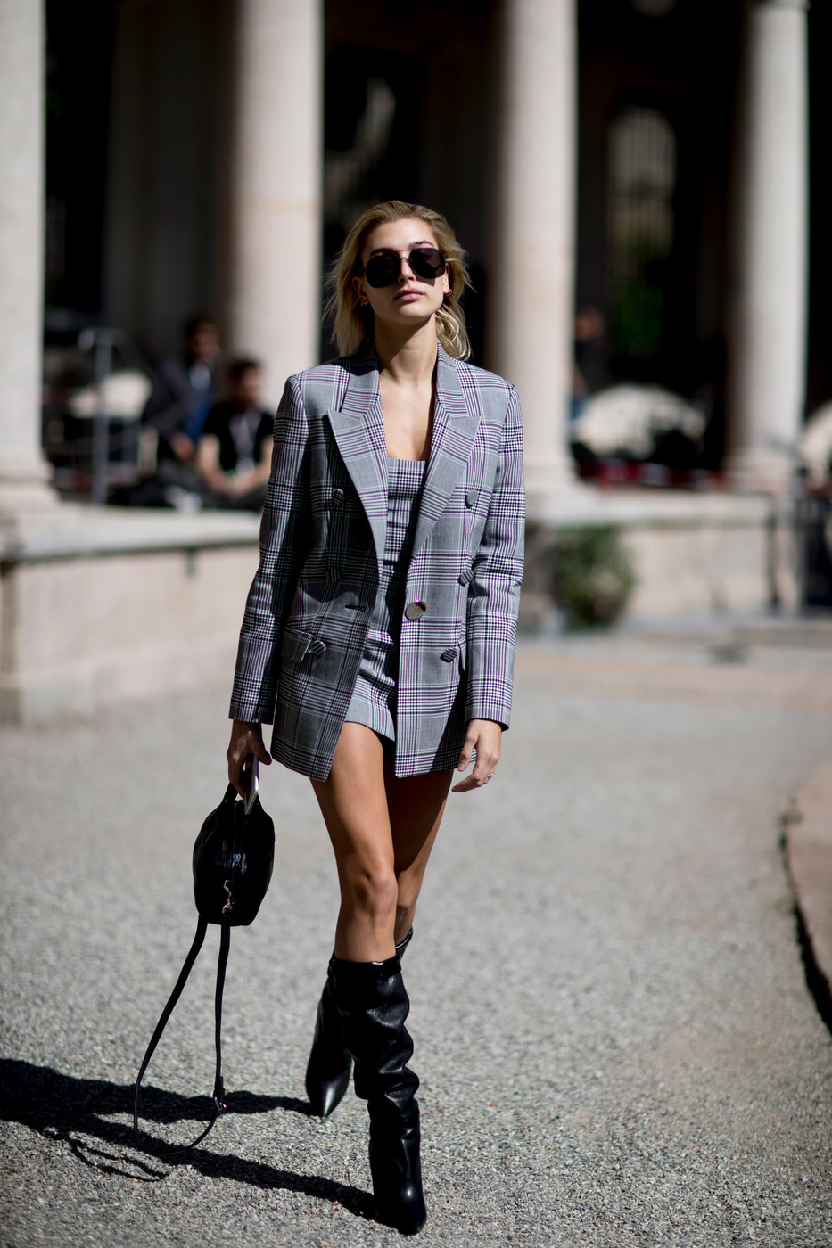Hailey 39 S Plaid And Boots Milan 39 S Most Inspiring Street Style Livingly