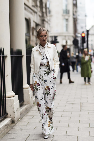 eb9407e73408 Floral Jumpsuit - The Most Inspiring Street Style at London Fashion ...