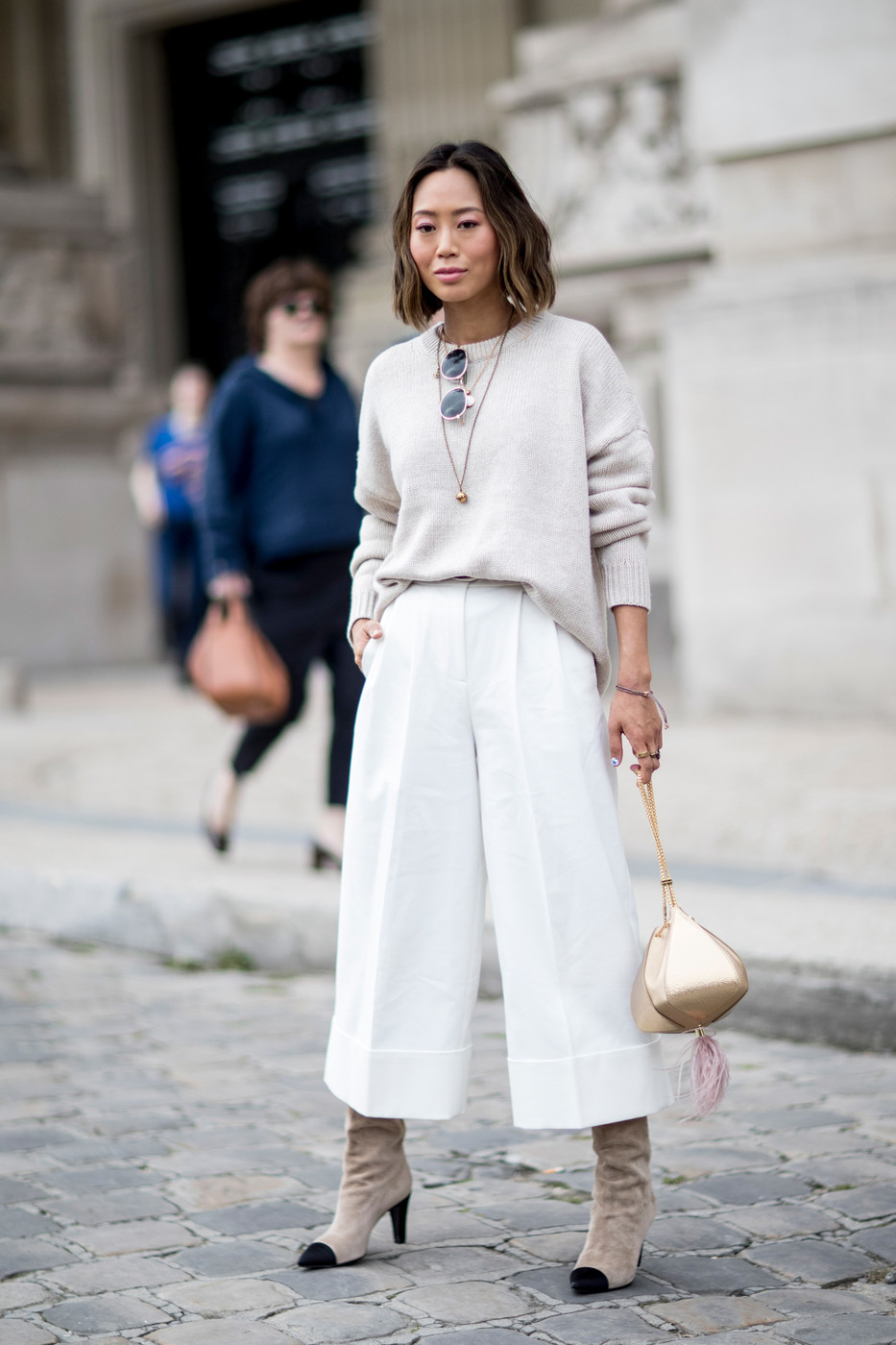 Oversized Neutrals The Best Outfits Worn To Paris