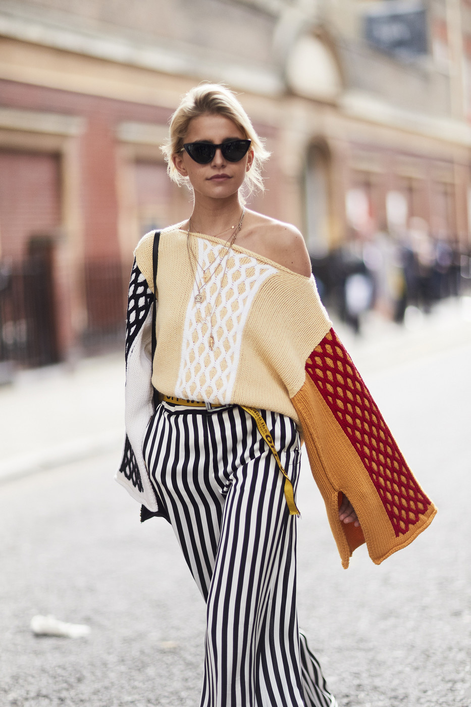 Off The Shoulder Sweater The Most Inspiring Street Style At London Fashion Week Livingly