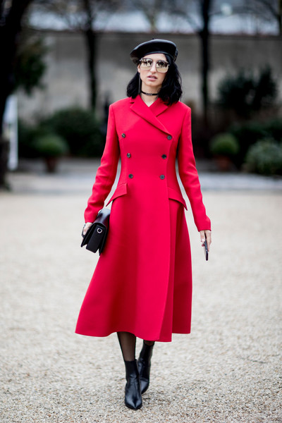 Crimson Red Winter Coat