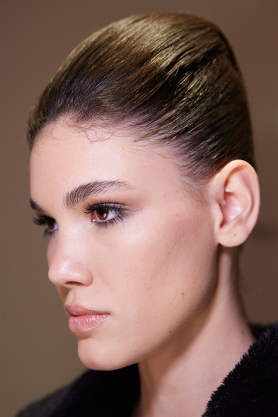 Stéphane Rolland at Couture Spring 2020 (Backstage) [hair,face,hairstyle,eyebrow,chin,ear,cheek,forehead,beauty,fashion,stephane rolland,chin,hairstyle,hair,face,eyebrow,forehead,beauty,fashion,couture spring 2020]