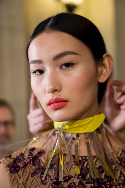 Talbot Runhof at Paris Fall 2019 (Backstage) [video,face,lip,yellow,beauty,chin,fashion,socialite,beauty,hairstyle,hair,braid,frizz,face,talbot runhof,paris fashion week,beauty,frizz,hairstyle,instyle,native video,french braid,hair,booneville/baldwyn airport,haute couture,socialite]