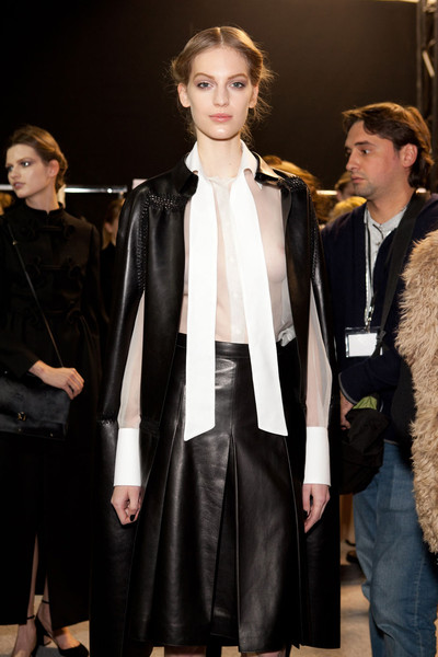 Valentino at Paris Fall 2012 (Backstage) [fashion model,fashion,clothing,outerwear,fashion show,event,fashion design,formal wear,suit,haute couture,leather jacket,supermodel,fashion,haute couture,runway,model,jacket,fashion model,paris fashion week,fashion show,runway,fashion show,fashion,blazer,model,haute couture,supermodel,zado leather jacket,jacket,tuxedo]