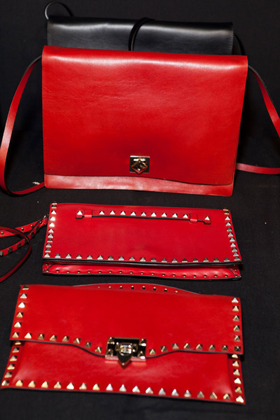 Valentino at Paris Fall 2012 (Backstage) [red,fashion accessory,wallet,bag,handbag,leather,material property,rectangle,coin purse,handbag,rectangle,leather,product,product design,design,font,brand,red,paris fashion week,handbag,product design,leather,brand,rectangle,product,font,design]