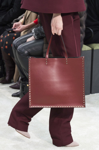 Valentino at Paris Fall 2018 (Details) [leather,maroon,fashion,brown,footwear,bag,leg,human leg,handbag,boot,handbag,valentino,brown,maroon,leather,fashion,human leg,boot,leg,paris fashion week,handbag,leather,maroon]