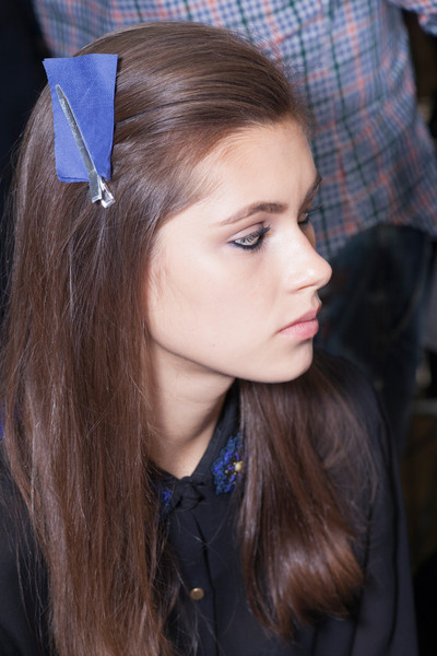 Versace at Milan Fall 2013 (Backstage)