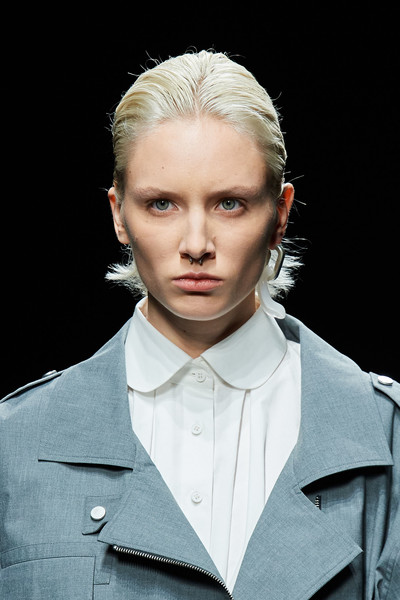 Vien at Milan Spring 2021 (Details) [hair,face,fashion,hairstyle,blond,beauty,eyebrow,head,chin,cheek,blond,hair,fashion,suit,forehead,hair,haute couture,model,hairstyle,milan fashion week,suit,forehead,long hair,haute couture,fashion,model,blond,human,hair,beauty.m]