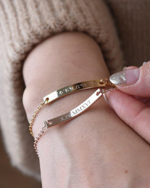 Personalized Bar Bracelet