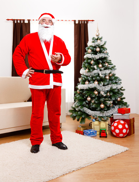 Be prepared to answer questions about fake Santas