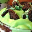 St. Patrick's Day Brownie Trifle