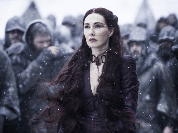 Melisandre's Dramatic Half-Up, Half-Down Look