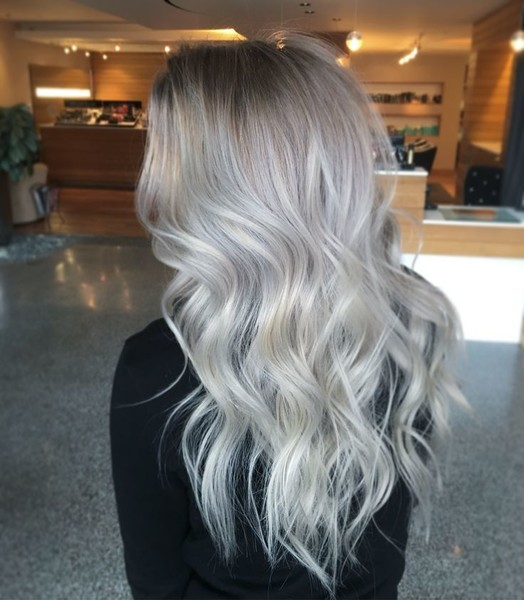 Silvery Blonde Color