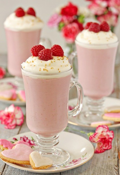 Rasberry White Hot Chocolate