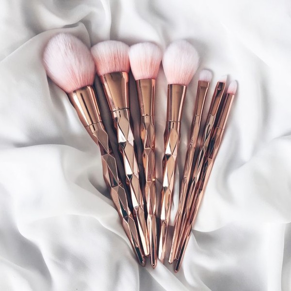 Grab Some Rose Gold Makeup Brushes