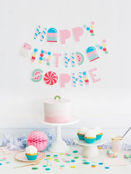 Free Printable Candy Letter Garland