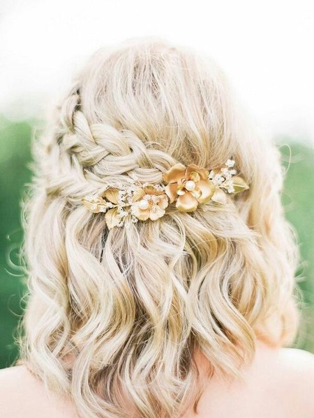 Braided Gold Flowers