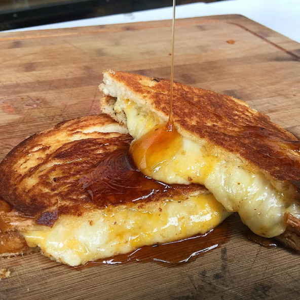 Honey Drizzled Truffle Grilled Cheese