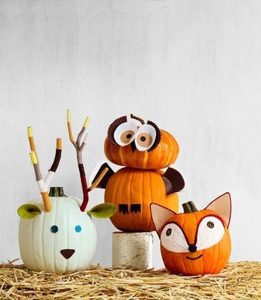 Woodland Creature Pumpkins