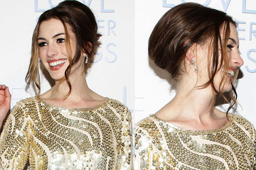 Anne Hathaway Delights with a Decadent French Twist