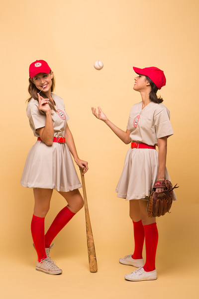Creative Halloween Costume Ideas for You and Your Best Friends  sc 1 st  Livingly & A League of Their Own - Creative Halloween Costume Ideas for You and ...