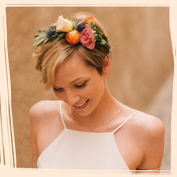 Short and Sweet Bridal Hairstyles
