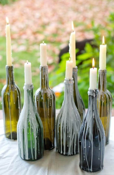 DIY Wine Candle Idea