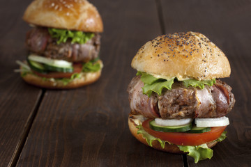 This Bacon-Wrapped Burger Will Have Your Man on One Knee