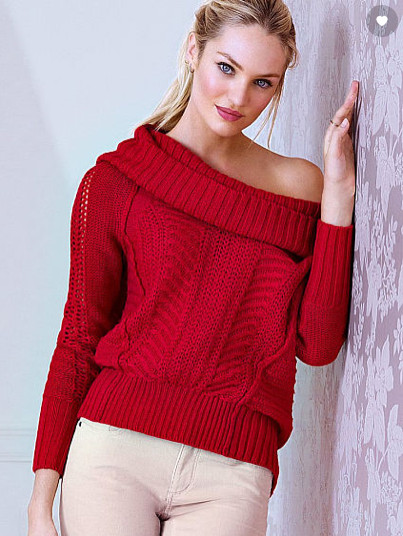 Victoria's Secret's Off-the-Shoulder Cowl Neck Sweater - 10 Chunky ...