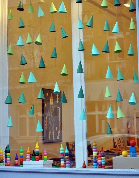 Window Christmas Trees