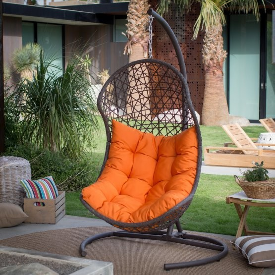 Island Bay Wicker Hanging Egg Chair