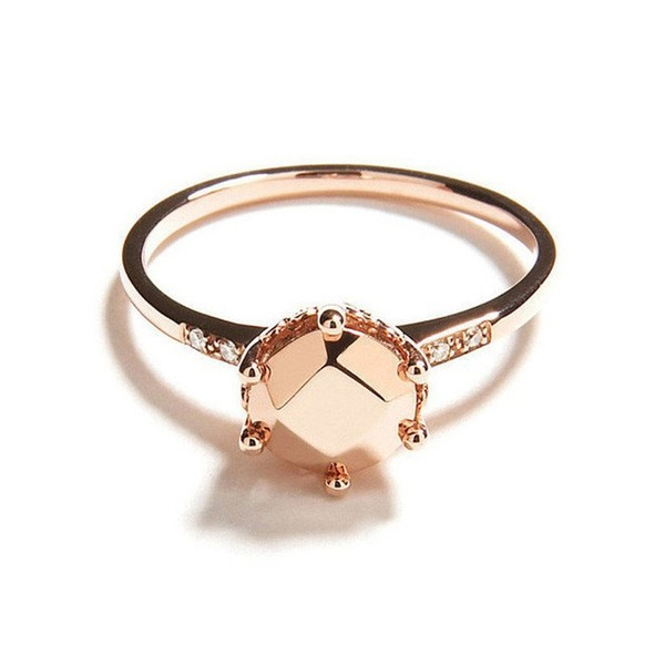 Rose Gold Gemstone Solitaire