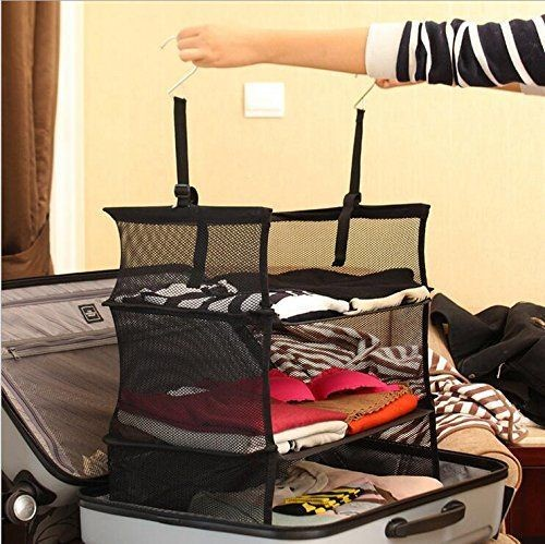 3-Tier Shelf Suitcase Organizer