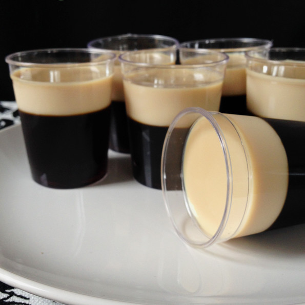Baby Guinness Irish Coffee Jell-O Shots