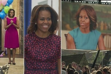 Michelle Obama Continues Her TV Series Tour in Style