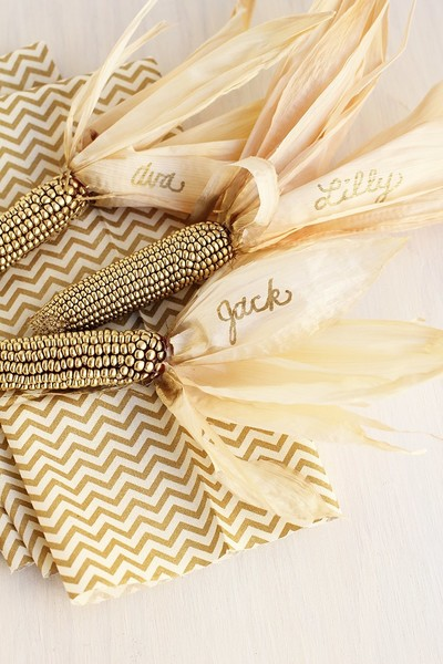 Gold Corn Husk Place Holders