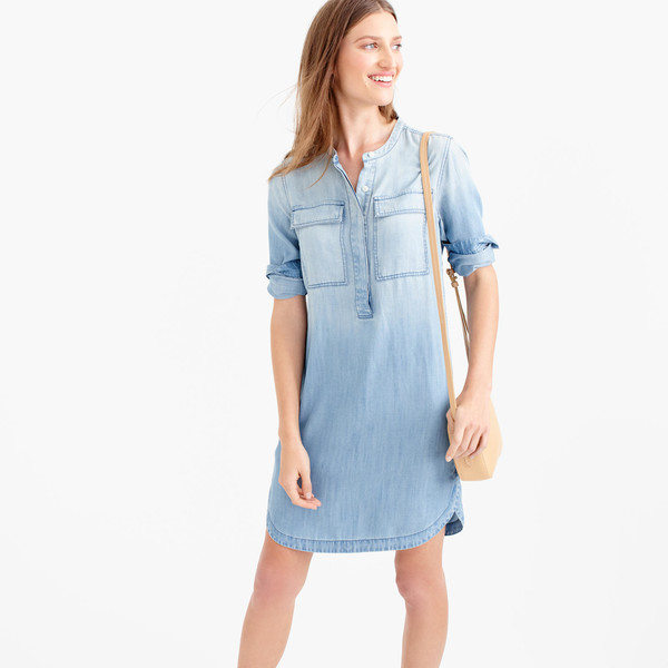 J.Crew Drapey Chambray Shirtdress