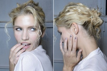 How to Get a Gorgeous Textured Updo Like This One From Tracy Reese
