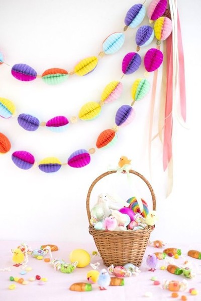 Honeycomb Easter Egg Garland DIY