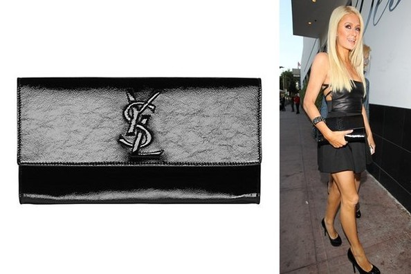 yves saint laurent leather bag - Belle du Jour: Paris Hilton Carries YSL - Accessory du Jour - Livingly