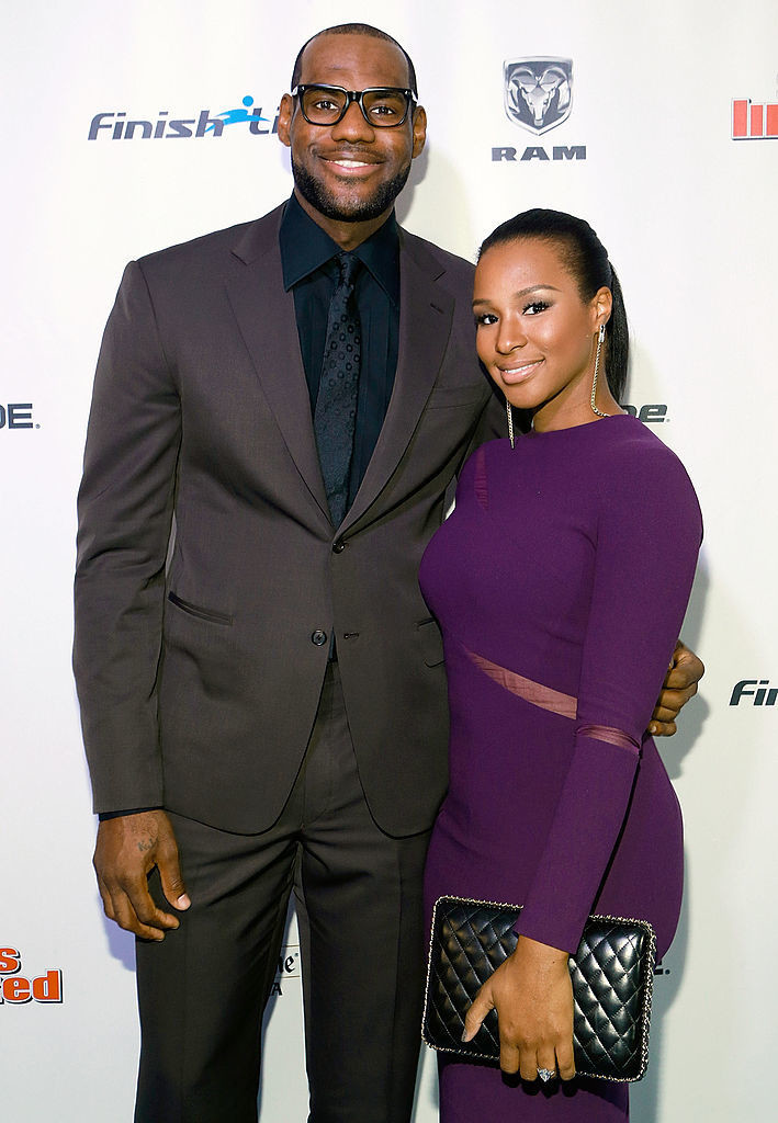 LeBron James And Savannah Brinson - Celebrity Couples with Extreme Height Differences - Livingly