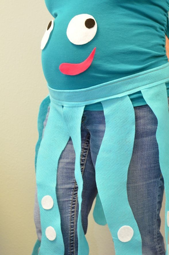 Octopus Costume Easy Maternity Halloween Costumes To